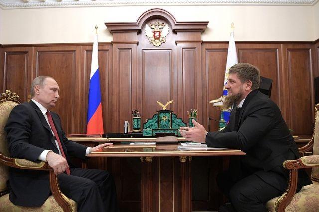 Путин обсудил с Кадыровым вопросы борьбы с терроризмом в Чечне