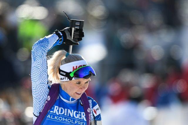 Финская биатлонистка Лаукканен выиграла гонку преследования на этапе КМ