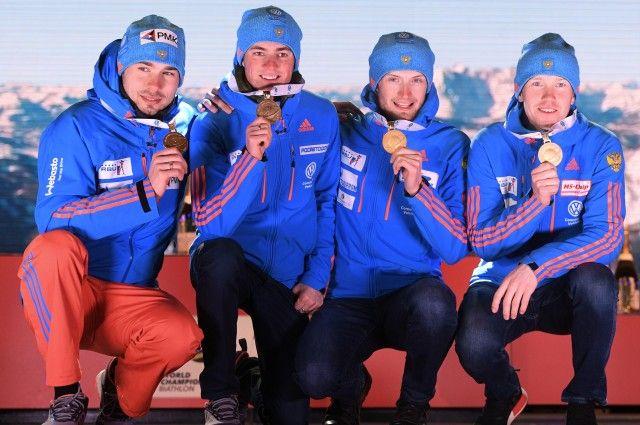 Путин поздравил российских биатлонистов с победой на чемпионате мира